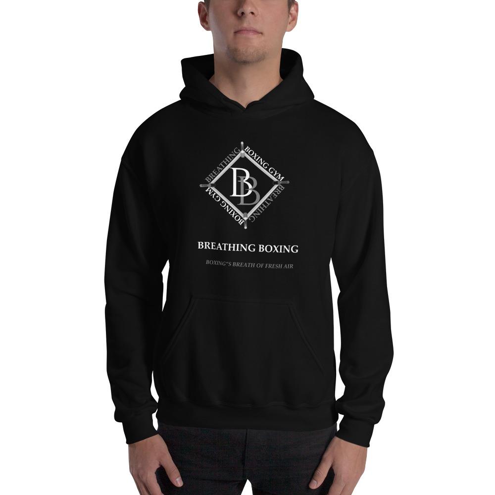 Breathing Boxing by Richard Stephenson Men's Hoodie, White Logo