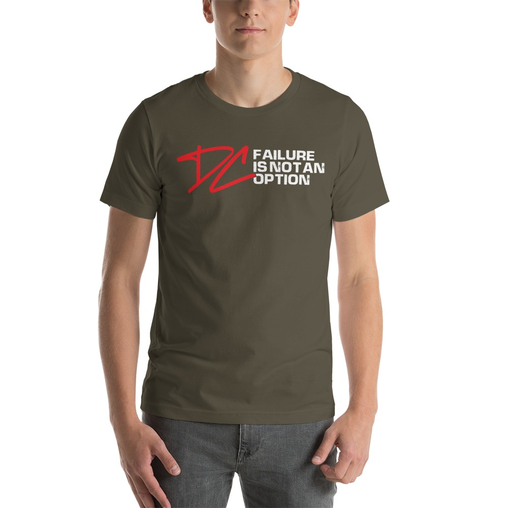 Failure is not an option V#1 by Derrick Curtis Jr Men's T-Shirt , White Logo