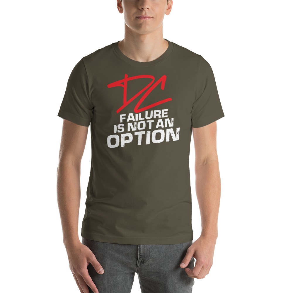 Failure is not an option V#2 by Derrick Curtis Jr Men's T-Shirt , White Logo