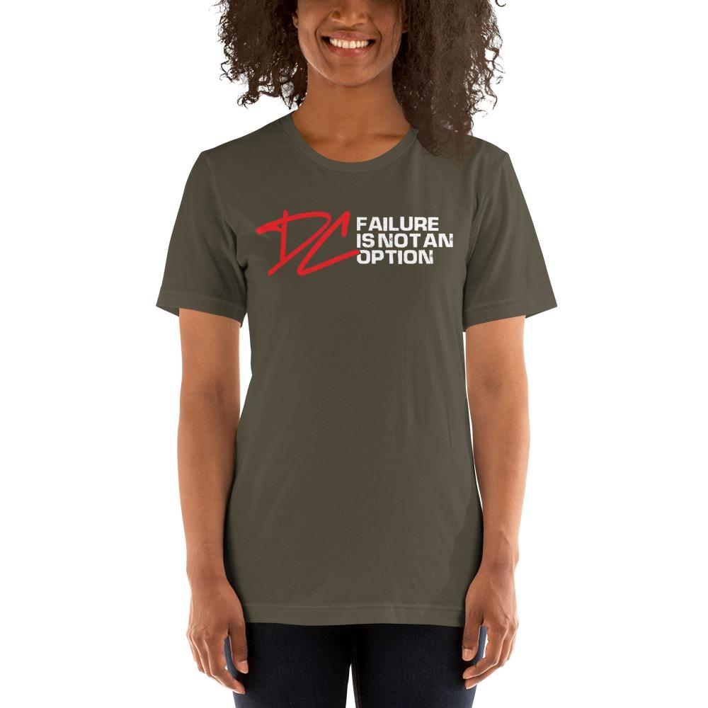 Failure is not an option V#1 by Derrick Curtis Jr Women's T-Shirt , White Logo
