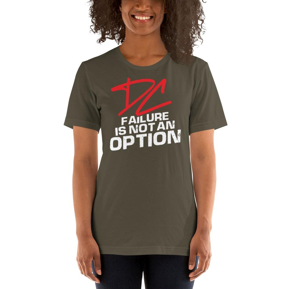 Failure is not an option V#2 by Derrick Curtis Jr Women's T-Shirt , White Logo