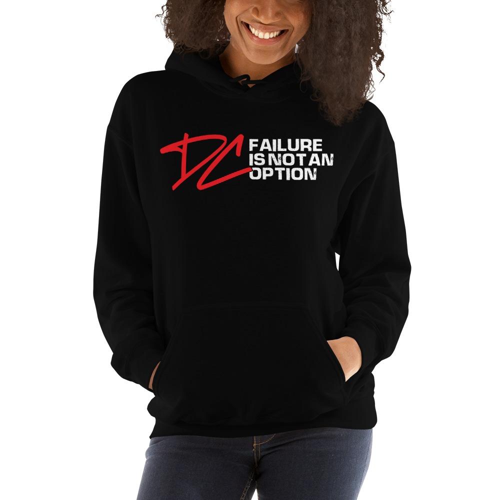 Failure is not an option V#1 by Derrick Curtis Jr Women's Hoodie, White Logo