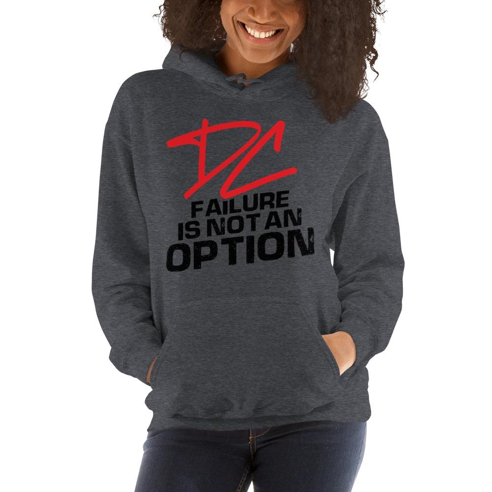 Failure is not an option V#2 by Derrick Curtis Jr Women's Hoodie, Black Logo
