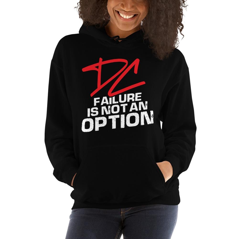 Failure is not an option V#2 by Derrick Curtis Jr Women's Hoodie, White Logo