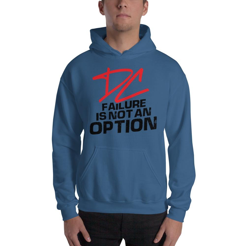 Failure is not an option V#2 by Derrick Curtis Jr Men's Hoodie, Black Logo