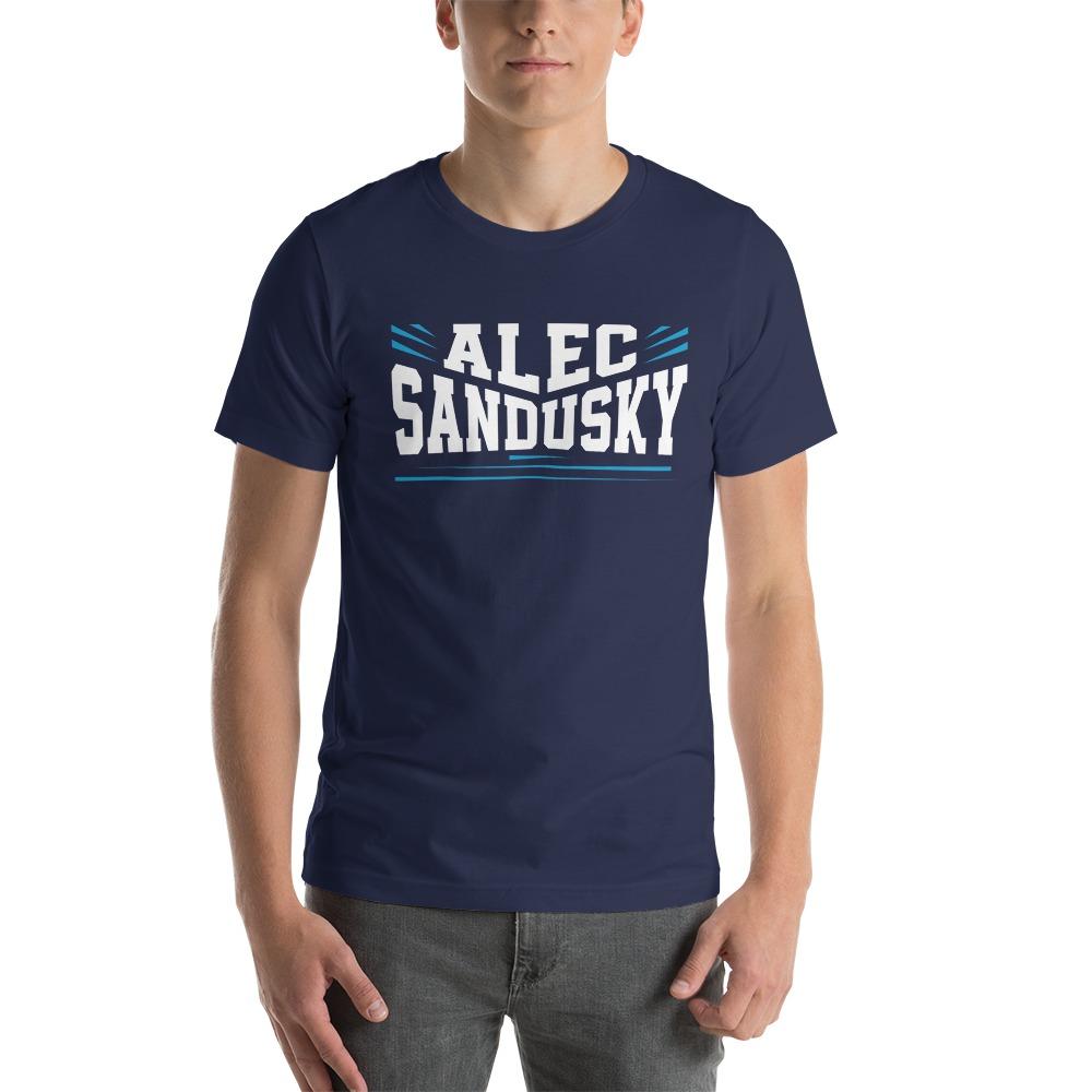 Alec Sandusky, Men's T-Shirt, White Logo