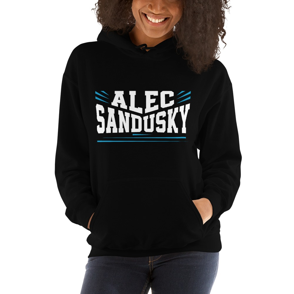 Alec Sandusky, Women's Hoodie, White Logo