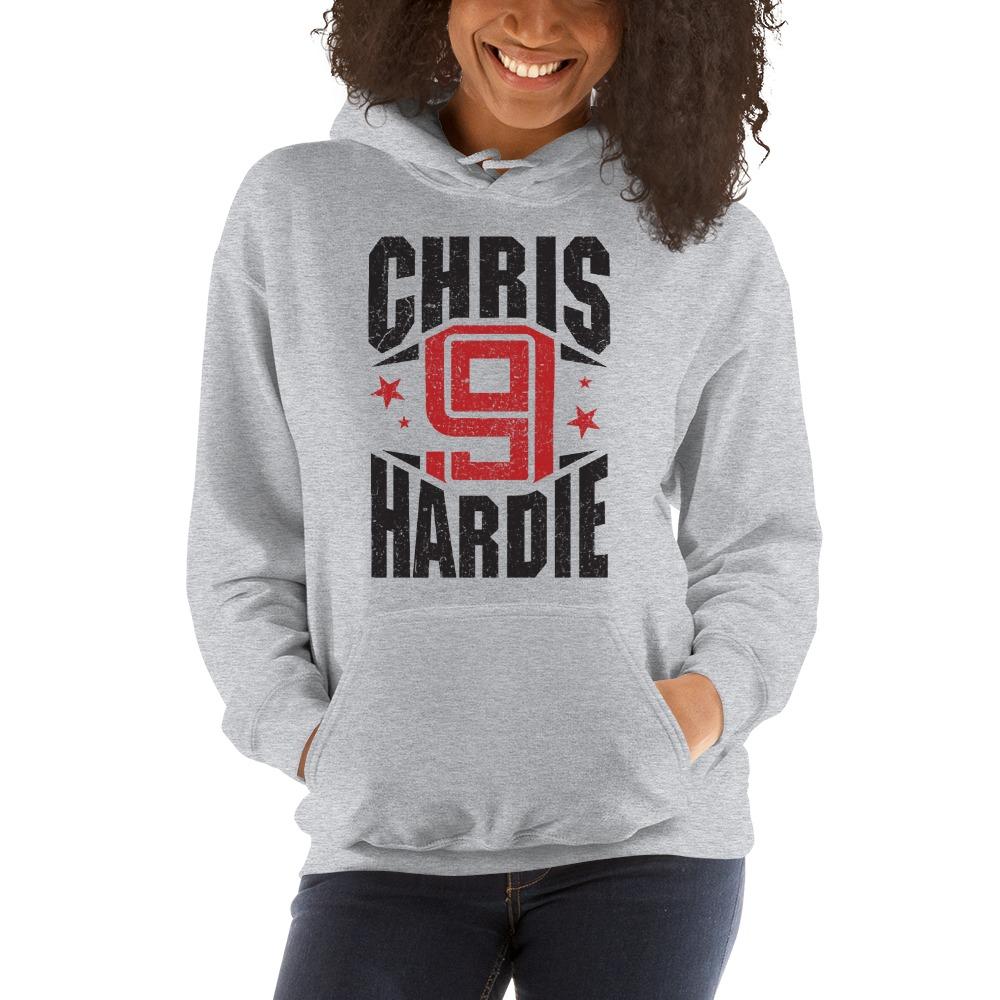 Chris Hardie, Women's Hoodie, Black Logo