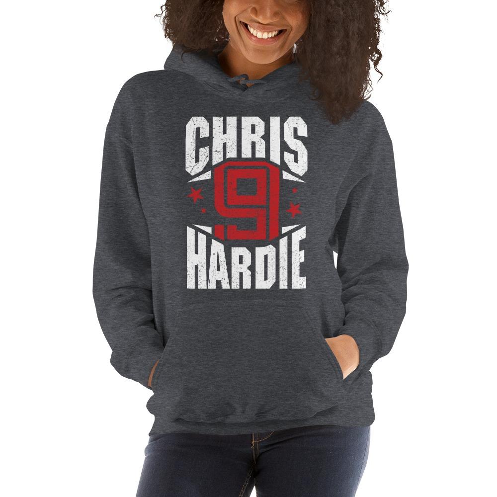 Chris Hardie, Women's Hoodie, White Logo