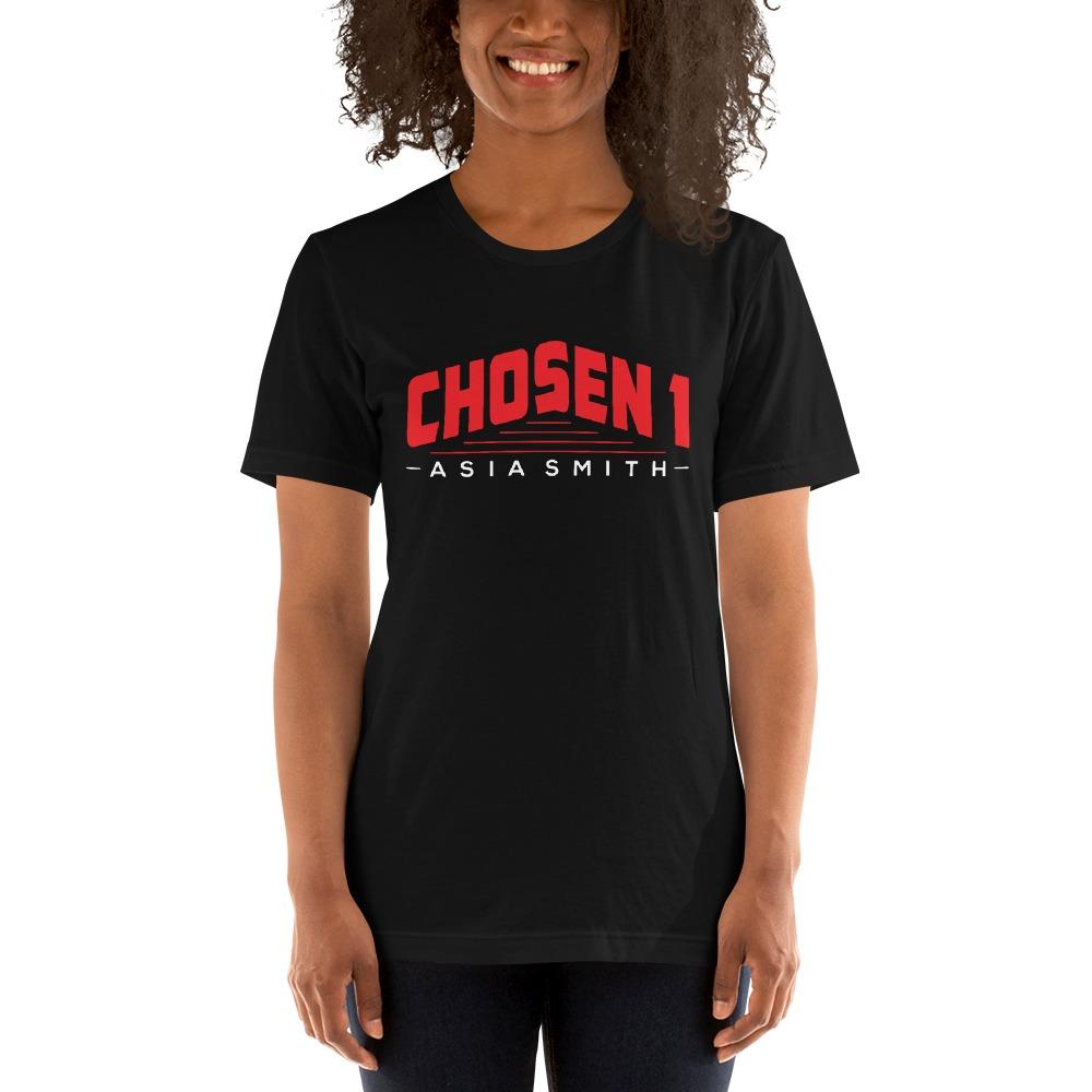 Chosen 1 by Asia Smith, Women's T-Shirt, White Logo