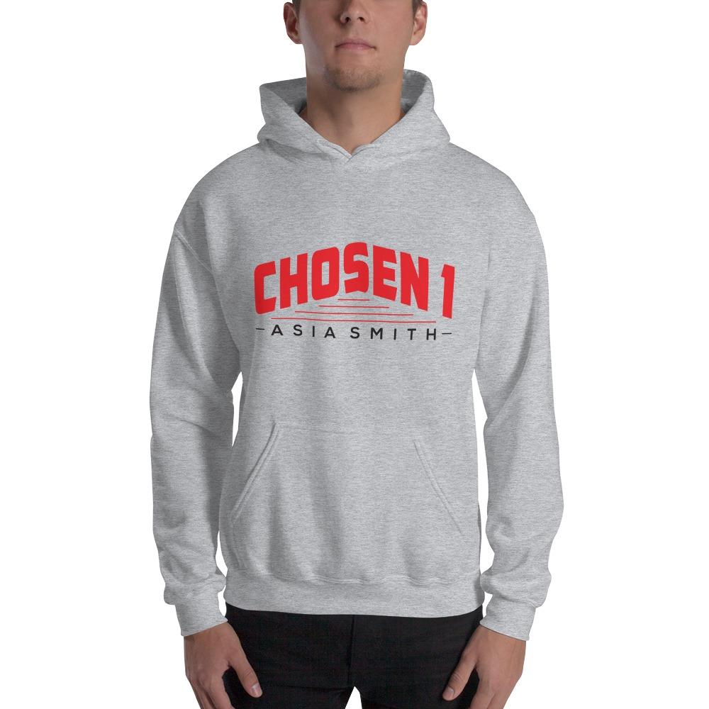 Chosen 1 by Asia Smith, Men's Hoodie, Black Logo