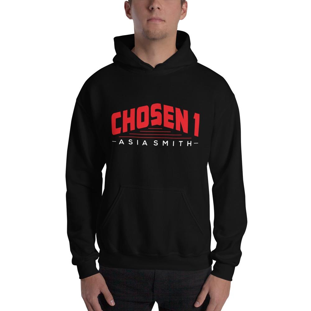 Chosen 1 by Asia Smith, Men's Hoodie, White Logo
