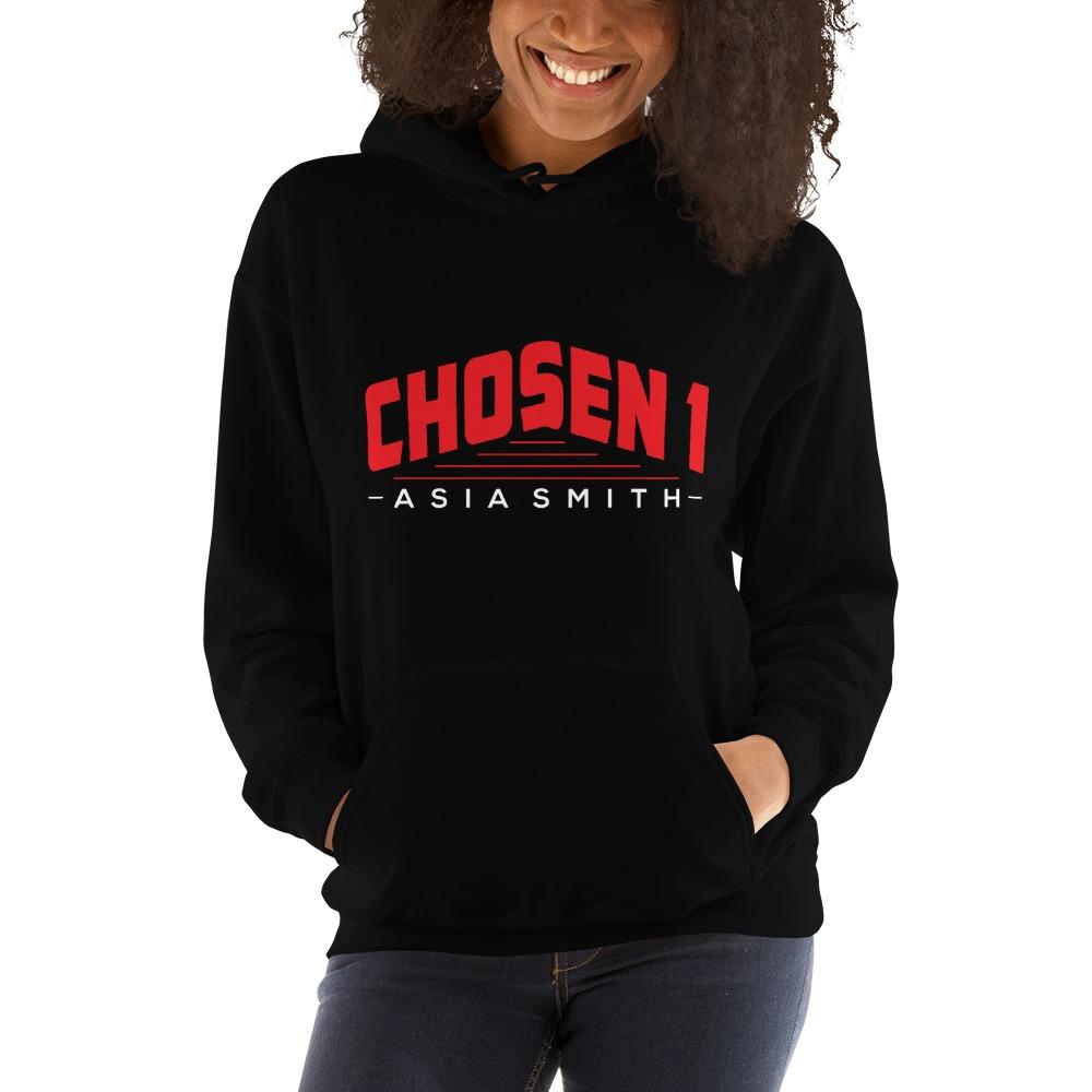 Chosen 1 by Asia Smith, Women's Hoodie, White Logo