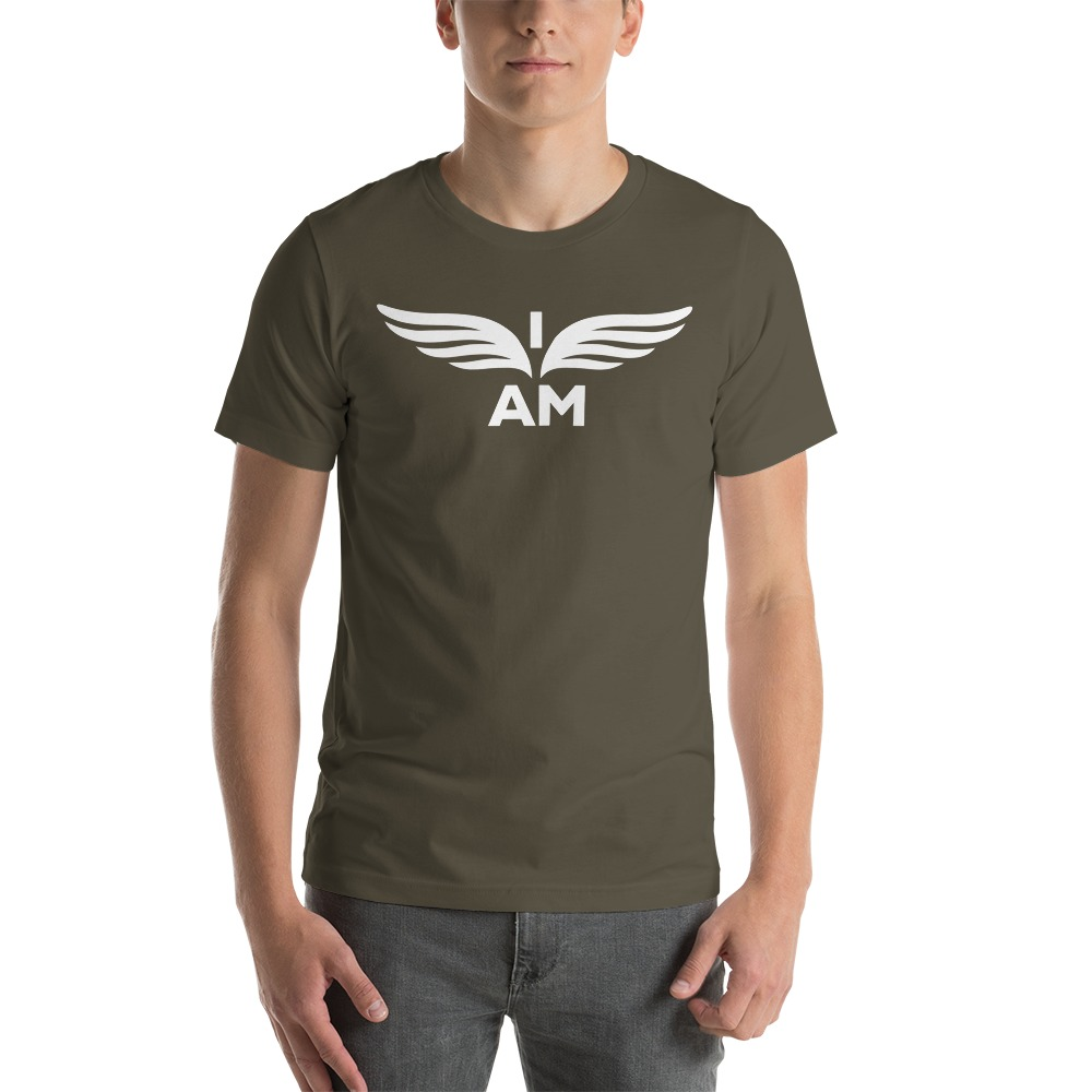 I-AM by Darran Hall Men's T-Shirt, White Logo