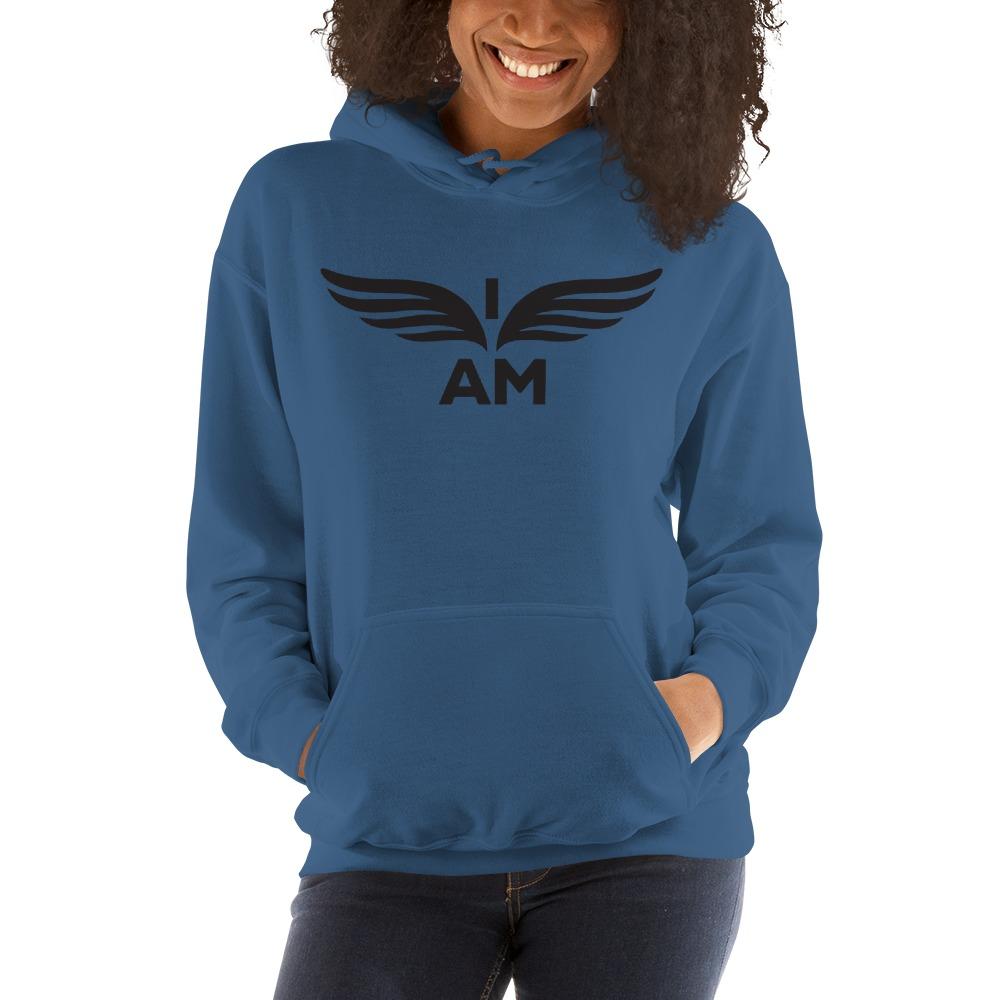 I-AM by Darran Hall Women's Hoodie, Black Logo