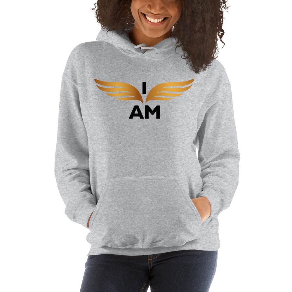 I-AM by Darran Hall Women's Hoodie, Gold Logo