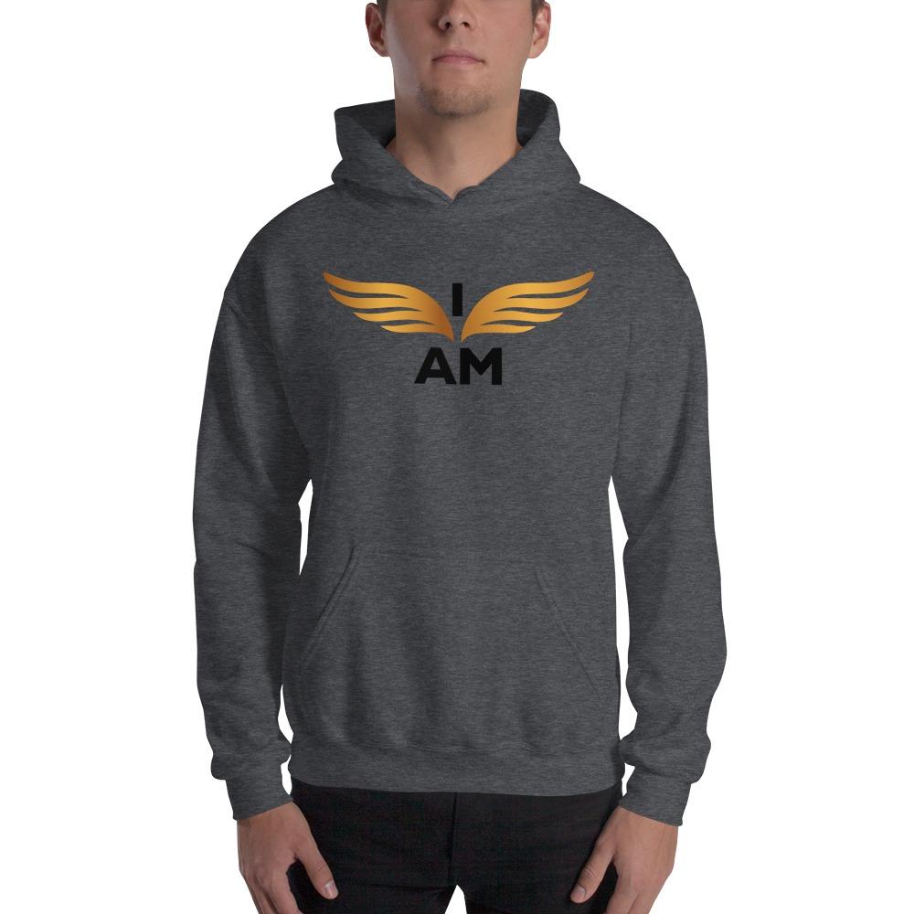 I-AM by Darran Hall Men's Hoodie, Gold Logo