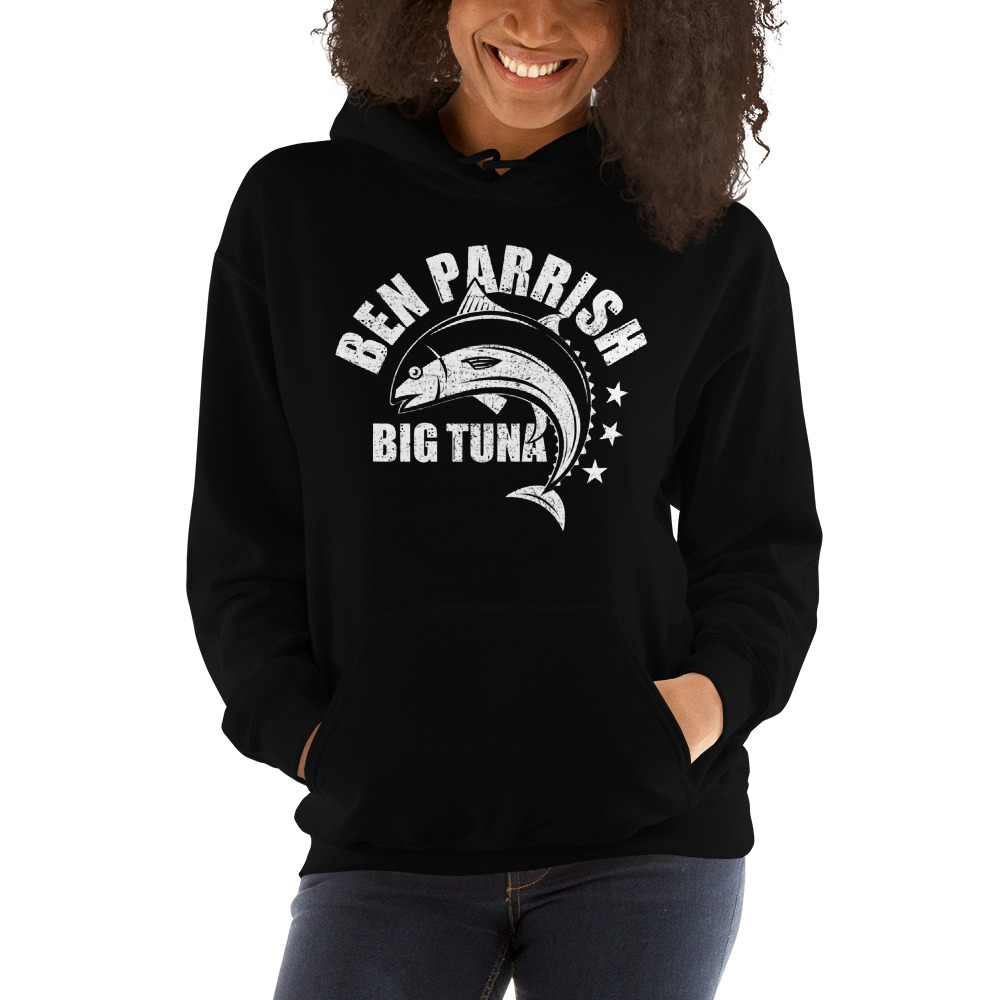 "Ben ""Big Tuna"" Parrish Women's Hoodie, Light Logo"