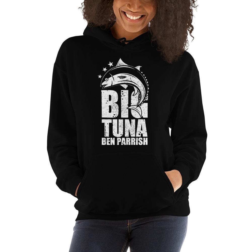 """Big Tuna"" by  Ben Parrish Women's Hoodie, Light Logo"