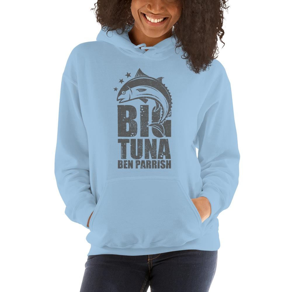 """""""Big Tuna"""" by  Ben Parrish Women's Hoodie, Dark Logo"""