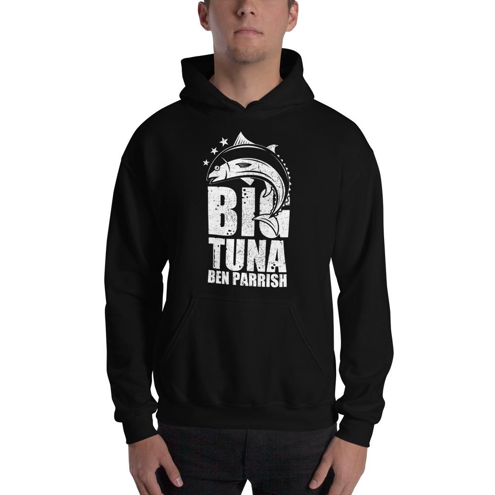 """Big Tuna"" by  Ben Parrish Men's Hoodie, Light Logo"