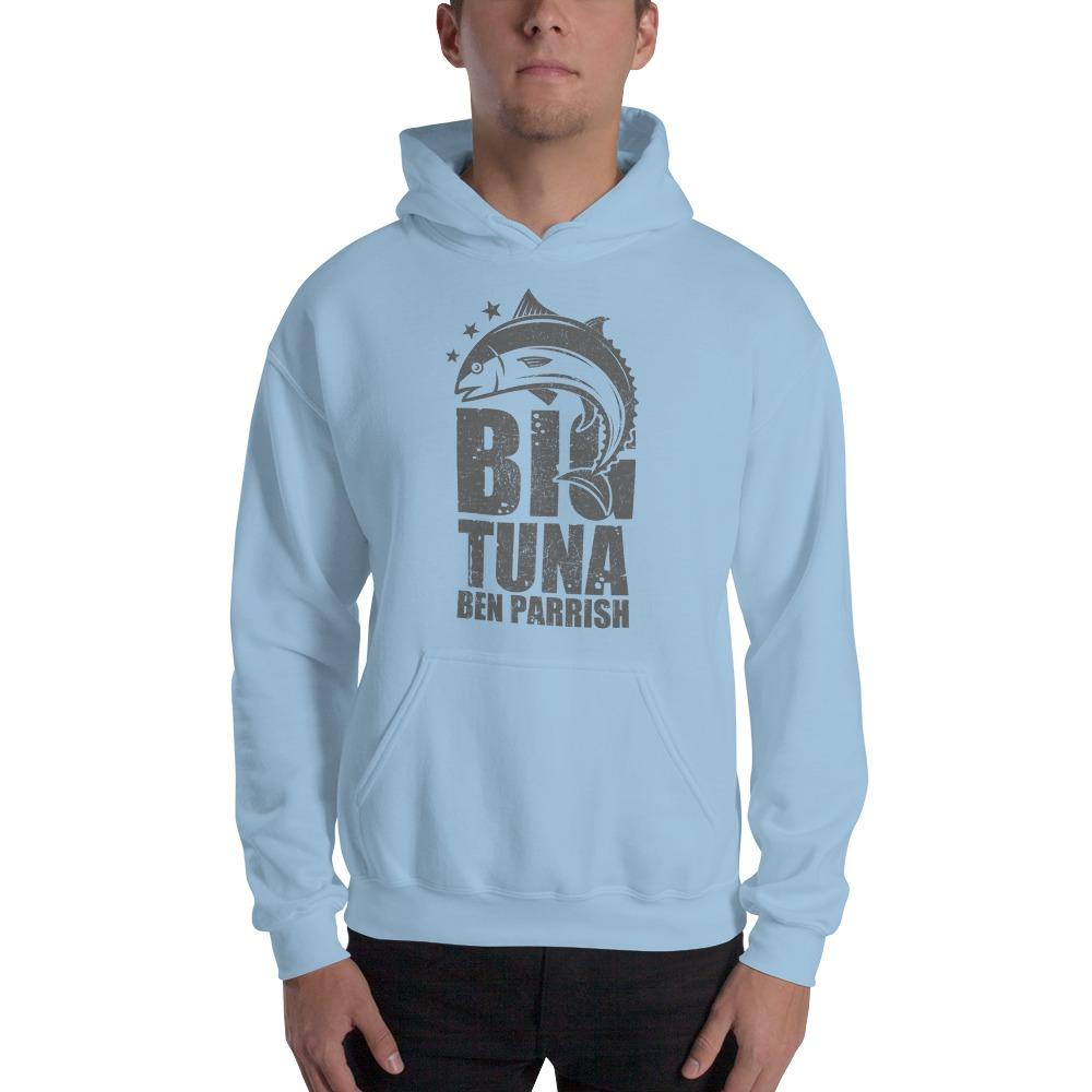 """""""Big Tuna"""" by  Ben Parrish Men's Hoodie, Dark Logo"""