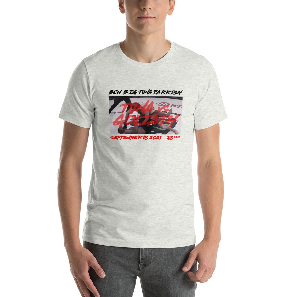 "Tuna Vs. Goliath by Ben ""Big Tuna"" Parrish, Men's T-Shirt"