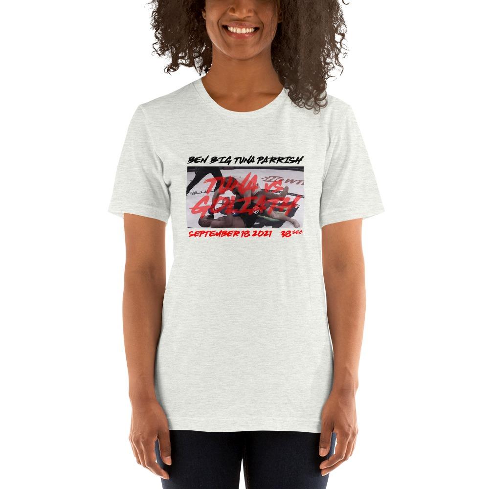 "Tuna Vs. Goliath by Ben ""Big Tuna"" Parrish, Women's T-Shirt"